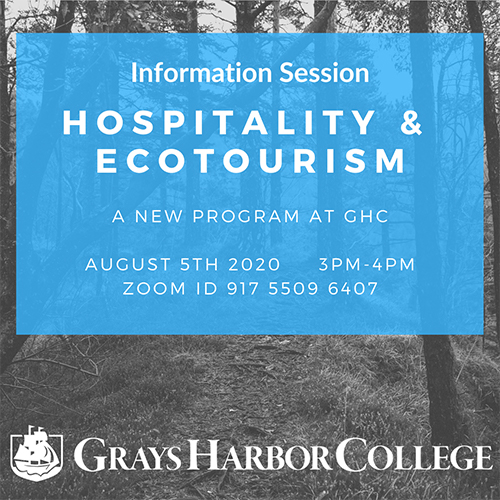 Hospitality & Ecotourism Information Session 8/5 - 3-4pm