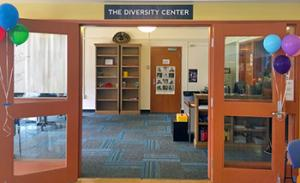 Open doors to the Diversity Center in the HUB