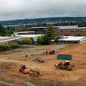 Construction on campus. Follow signs for parking and walking routes
